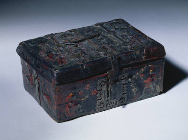 Leather Casket with Scenes of Courtly Love