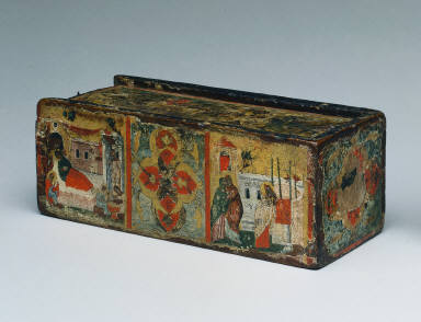 Painted Reliquary Box with Scenes from the Life of John the Baptist