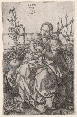 Madonna and Child with lily