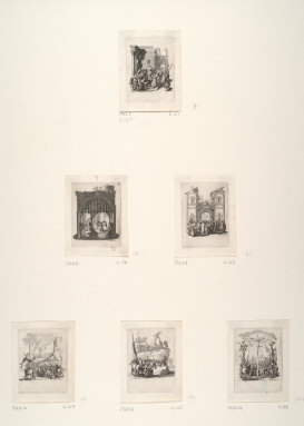 Six prints from The Small Set of the Passion (copies)