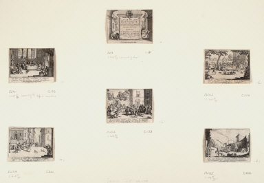 Six prints from The Story of the Prodigal Son