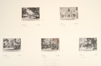 Five prints from The Story of the Prodigal Son