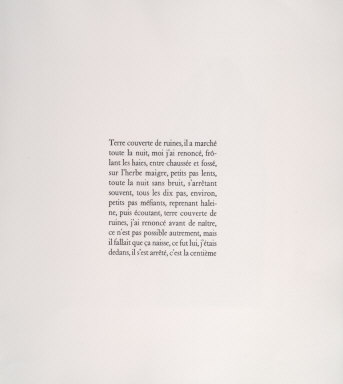 Title and Imprint Page from Au loin unh Oiseau (A Distant Bird)