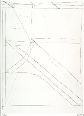 One of Nine Drypoints and Etchings