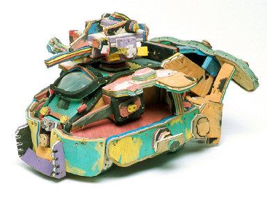 Toy Tank Made of Flip Flops