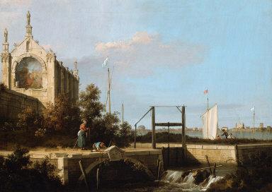 Capriccio: A Sluice on a River with a Reminiscence of Eton College Chapel
