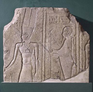 Relief of the gods Amen and Ptah-Sokar-Osiris