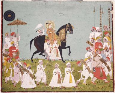 Maharaja Raj Singh of Mewar in Procession