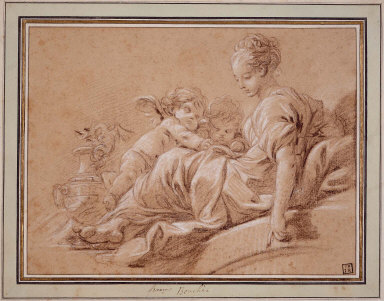 Young Woman with Two Amorini
