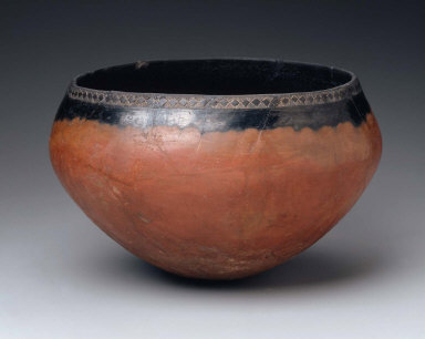 Black-topped, red-polished bowl