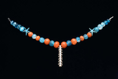 Necklace with cylinder amulet case