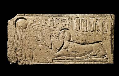 Relief of Akhenaten as a sphinx