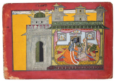Krishna Loosens His Beloved's Belt
