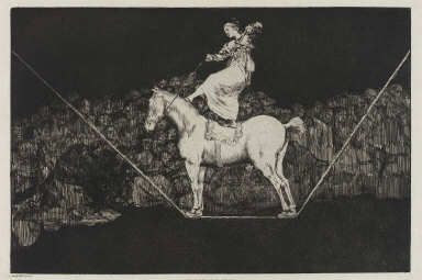 """Disparate puntual (Precise Folly); plate from the """"Disparates"""" (Follies) series, published in """"L'Art"""", 1877"""