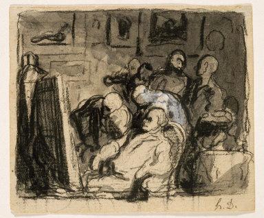In the Studio of an Artist (Preparatory study)