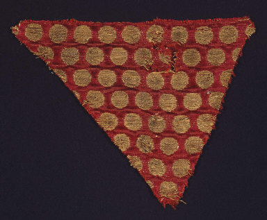 Textile fragment with gold disks