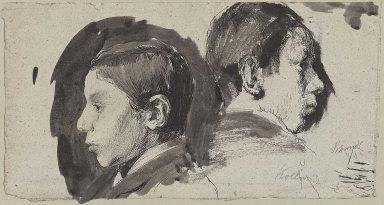 Profile Studies of her Brother, Konrad Schmidt
