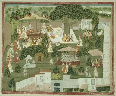 Maharana Sangram Singh of Mewar visiting the Ashram of Yogi Nilakanthaji