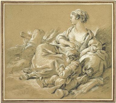Shepherdess and Child