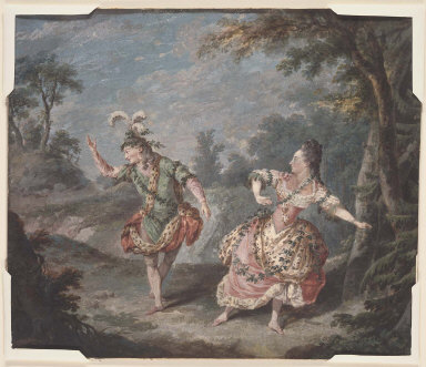 Dauberval and Mademoiselle Allard in the Pas de Deux, from the opera 'Silvie'