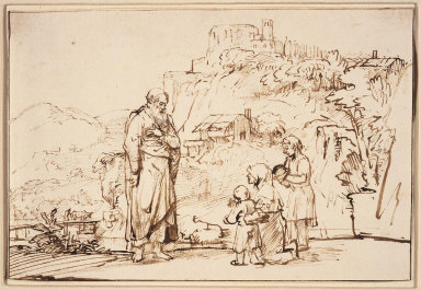 The Prophet Elisha and the Widow with Her Sons