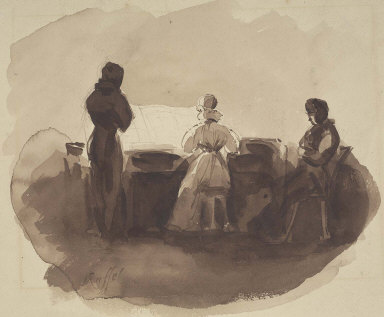 """Three figures at a piano """"Musical Moment"""""""