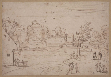 Landscape with Fortified Buildings and Moat