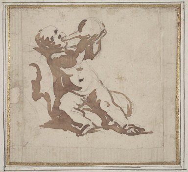 Putto Drinking from a Flask