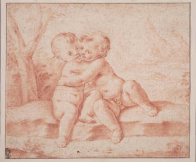 Two Putti Embracing