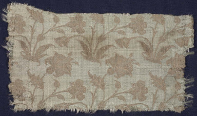Textile fragment with lilies