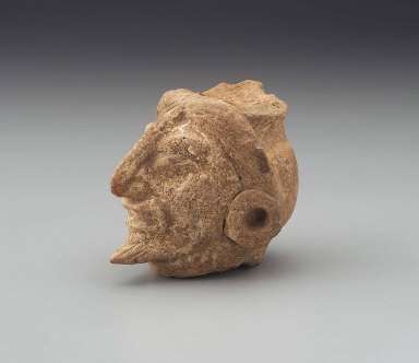 Human head fragment