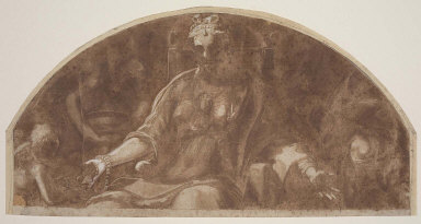 Munificence, Study for lunette in Camera della Virtù, Palazzo Ducale, Mantua