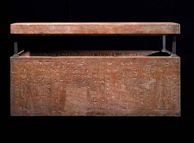 Sarcophagus of Queen Hatshepsut, recut for her father, Thutmose I