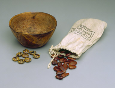 Bowl with Dice and Seeds
