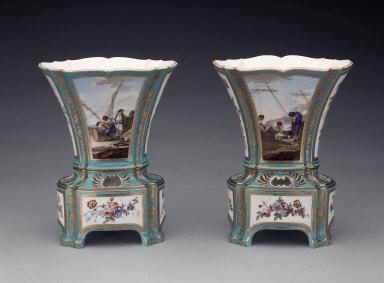 Pair of Vases Hollandais Nouveaux Ovales