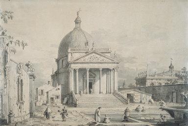 Veduta Ideata with San Simeone Piccolo