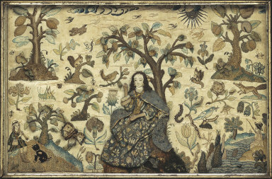 Lady Seated Under a Tree