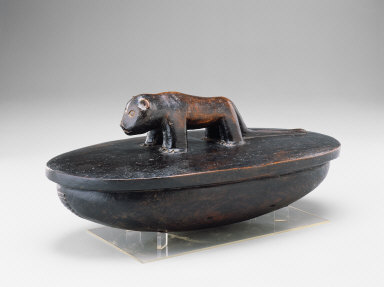 Lidded Bowl with Lioness