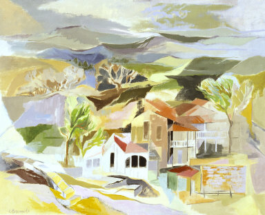 LANDSCAPE OF BOERNE, TEXAS BY FORT WORTH ARTIST CYNTHIA BRANTS (1952)