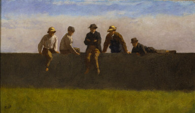 Five Boys on a Wall