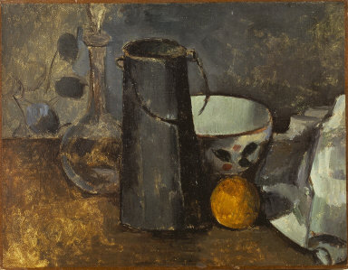 Still Life with Carafe, Milk Can, Coffee Bowl and Orange