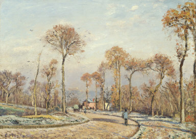 The Road to Versailles, Louveciennes: Morning Frost