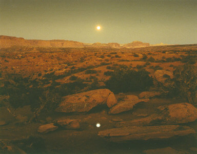 Moonrise over Pie Pan, Capitol Reef National Park, Utah