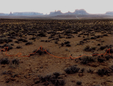 Monument Valley with Red String, Monument Valley, Utah