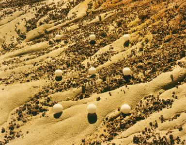Nine Desert Snowballs, Hell's Half Acre, Wyoming