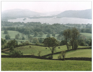 Lake Windermere towards the South, Lake District, England