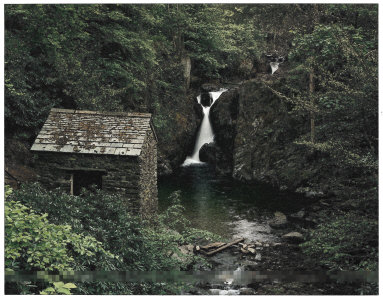 Grotto at Rydal Falls, Lake District, England