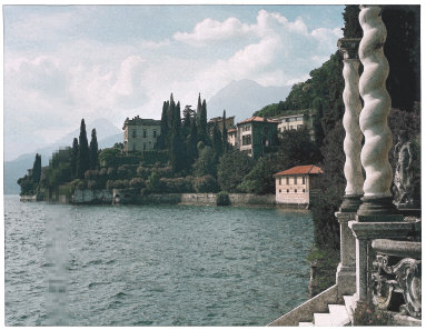 Villa Cipressi from the Villa Monastero, Lake Como, Italy