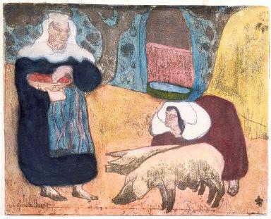 """Femmes au porcs (Women with Pigs), from """"Les Brettonneries"""""""