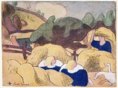 "Femmes faisant les foins (Women Making Haystacks), from ""Les Brettoneries"""